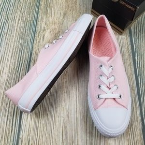 New CONVERSE pink Chuck Taylor low top sneakers